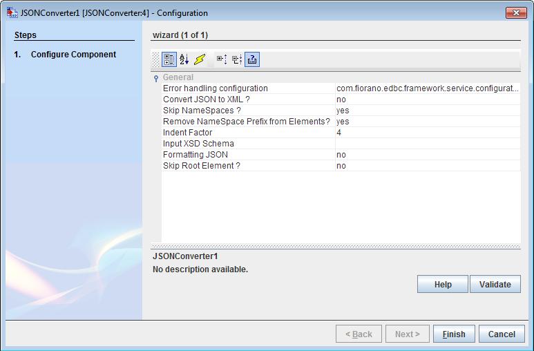 JSONConverter - ESB PUBlic doc - Fiorano Product Documentation