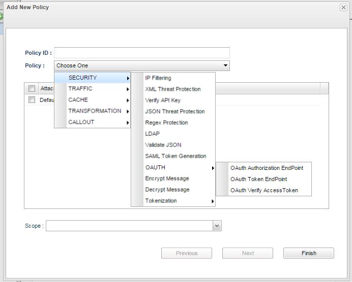 OAuth Policies - API_11 0 - Fiorano Product Documentation