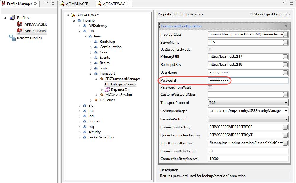 Changing Admin Password - API_11 0 - Fiorano Product