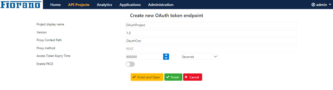 OAuth Token End Point - API Public Doc - Fiorano Product Documentation