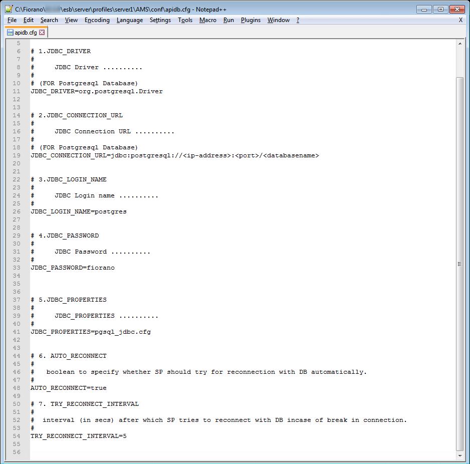 Configuring Analytics Database - API_11 0 - Fiorano Product