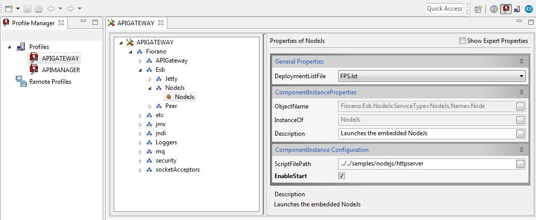 Integrating NodeJs with Gateway server - API 12 0 - Fiorano